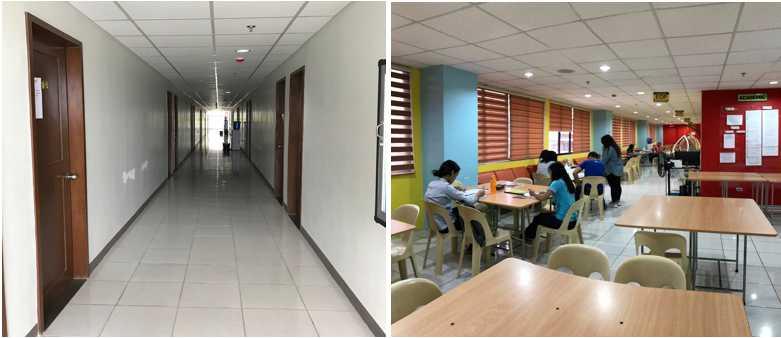 hành lang và khu tự học của campus sparta